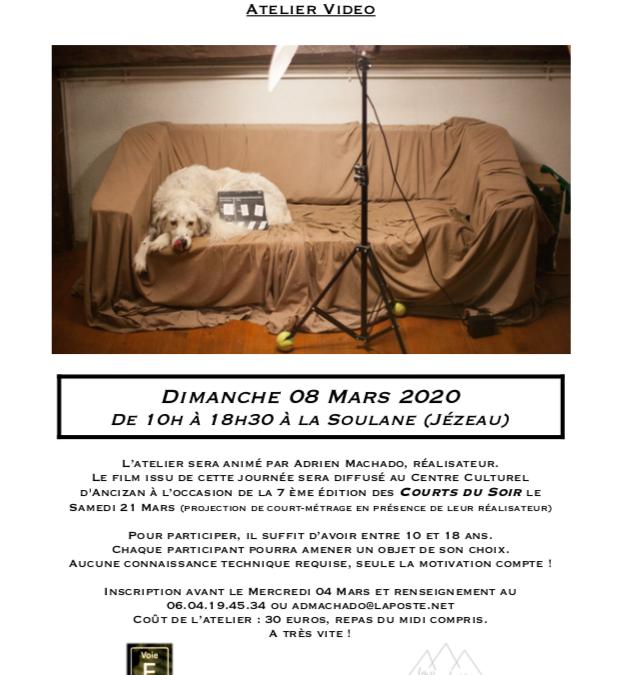 8 mars: il reste une place pour l'atelier vidéo!!